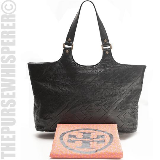 Tory Burch Shoulder Leather Tote in Black Image 11