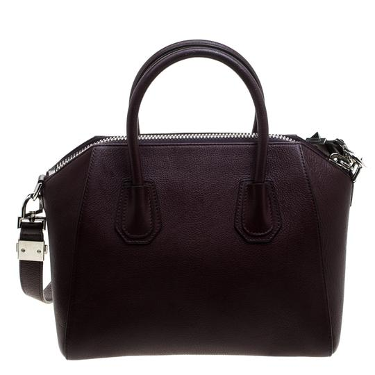 Givenchy Leather Satchel in Burgundy Image 1