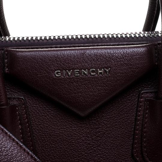 Givenchy Leather Satchel in Burgundy Image 10