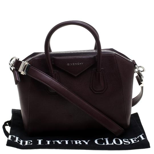 Givenchy Leather Satchel in Burgundy Image 11