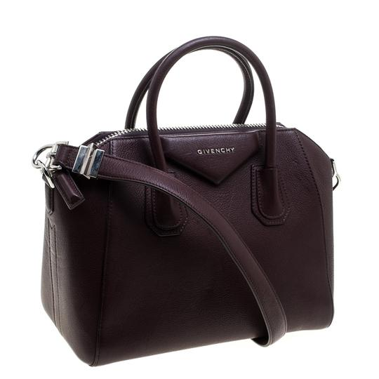 Givenchy Leather Satchel in Burgundy Image 3