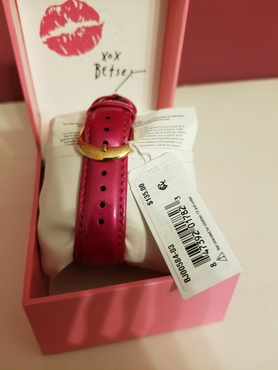 Betsey Johnson Betsey Johnson Pink And Rose Gold Tone Butterfly Crystal Bling Watch Image 5