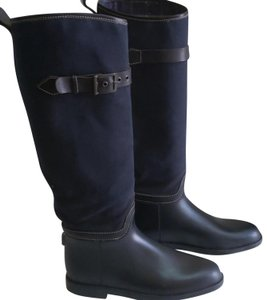 Chloé Navy blue, black and brown leather Boots