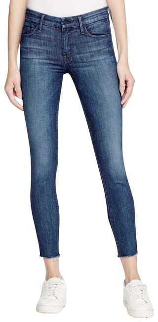 Preload https://img-static.tradesy.com/item/26263538/mother-blue-medium-wash-the-looker-ankle-fray-skinny-jeans-size-28-4-s-0-1-650-650.jpg