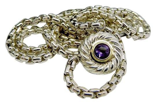 Preload https://img-static.tradesy.com/item/26263568/david-yurman-sterling-silver-and-gold-amethyst-cookie-necklace-0-3-540-540.jpg