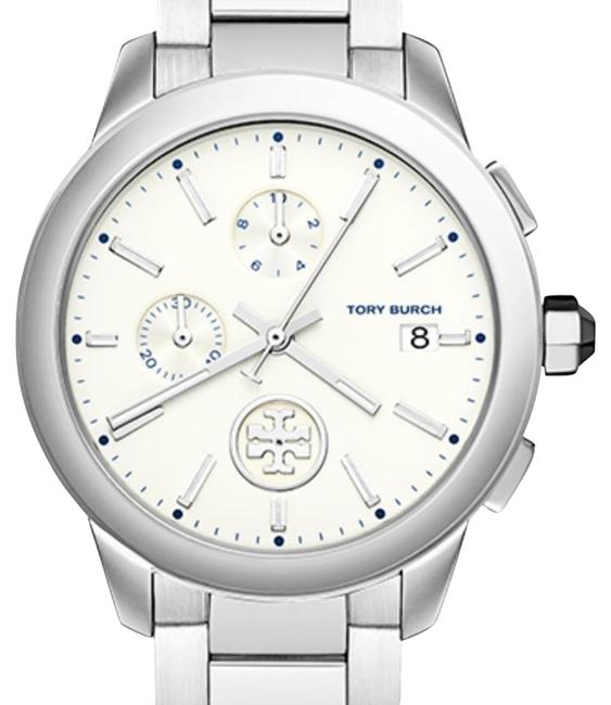 Item - Silver Collins 38mm Chronograph Watch