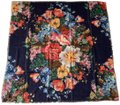 Gucci Josephine Navy Blue Multi Flora Floral Print Large Shawl Scarf Wrap Image 0