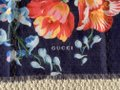 Gucci Josephine Navy Blue Multi Flora Floral Print Large Shawl Scarf Wrap Image 3