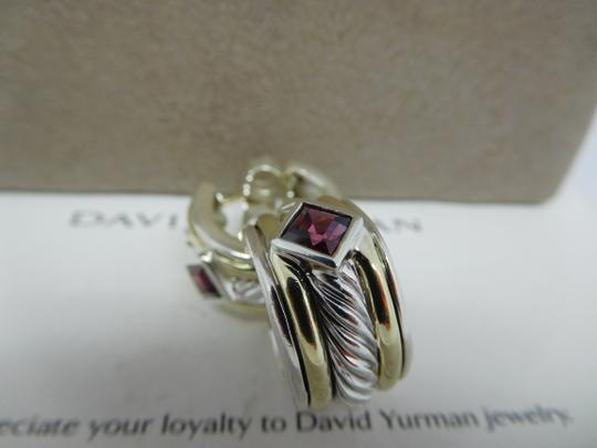 David Yurman David Yurman Pink Tourmaline Huggie Hoop Sterling Silver Earrings Image 3