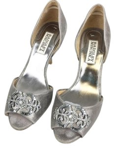 Badgley Mischka Gray Silver Formal