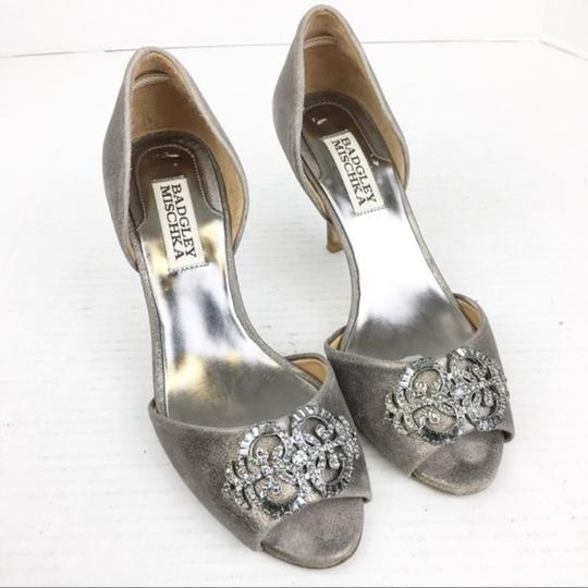Badgley Mischka Gray Silver Formal Image 1