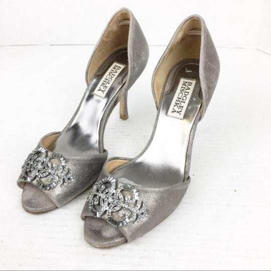 Badgley Mischka Gray Silver Formal Image 2