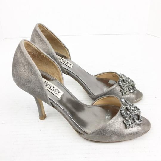 Badgley Mischka Gray Silver Formal Image 3