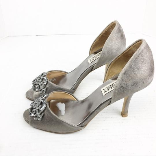 Badgley Mischka Gray Silver Formal Image 5