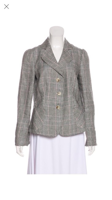 Preload https://img-static.tradesy.com/item/26263668/armani-collezioni-plaid-flax-blazer-size-12-l-0-0-650-650.jpg