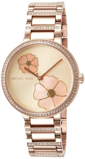Preload https://img-static.tradesy.com/item/26263686/michael-kors-gold-courtney-flash-sale-mother-of-pearl-floral-print-watch-0-2-540-540.jpg