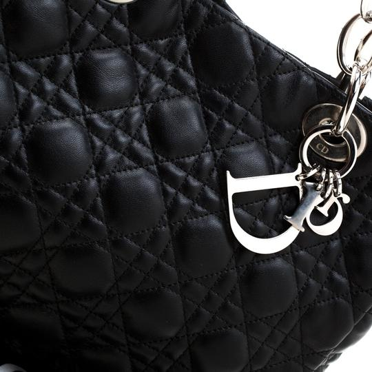 Dior Leather Tote in Black Image 10