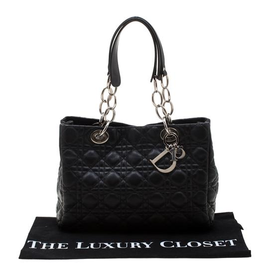 Dior Leather Tote in Black Image 11