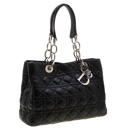 Dior Leather Tote in Black Image 3
