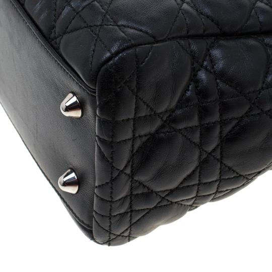 Dior Leather Tote in Black Image 6