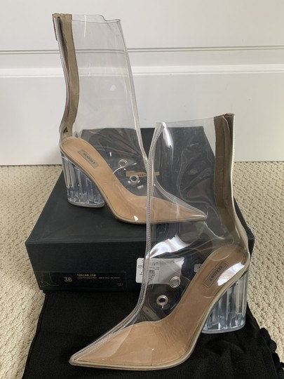YEEZY Pointed Toe Pvc Clear Boots Image 1