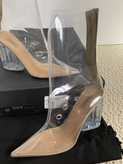 YEEZY Pointed Toe Pvc Clear Boots Image 10
