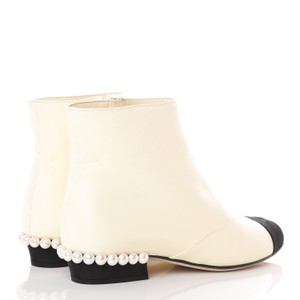 Chanel Pearls Cap Toe Classic Ivory Boots