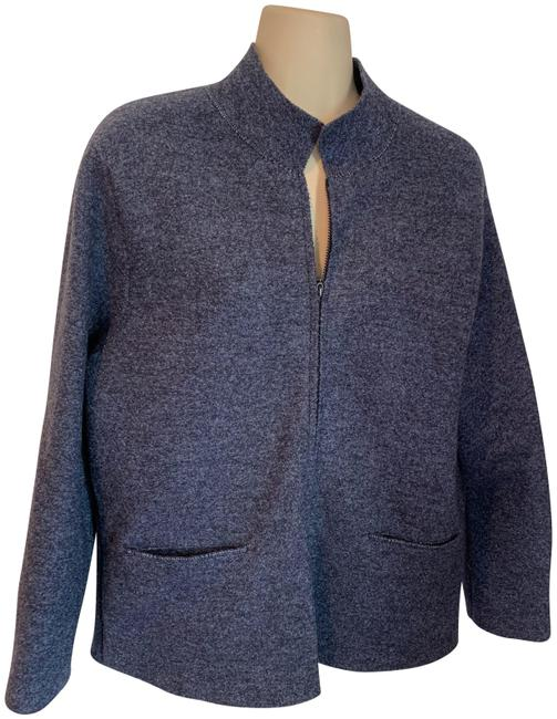 Item - Blue Almost New Boiled Wool Jacket Blazer Size 8 (M)