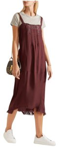 The Great. short dress Burgundy Silk Shopbop Net-a-porter Boho Slip on Tradesy