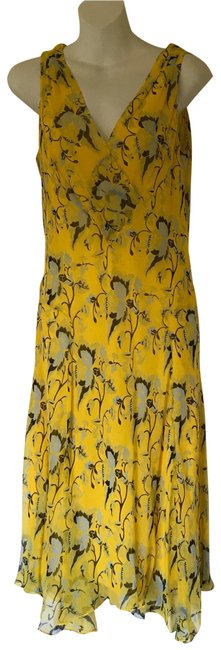 Item - Yellow Casual/Cocktail Mid-length Cocktail Dress Size 6 (S)