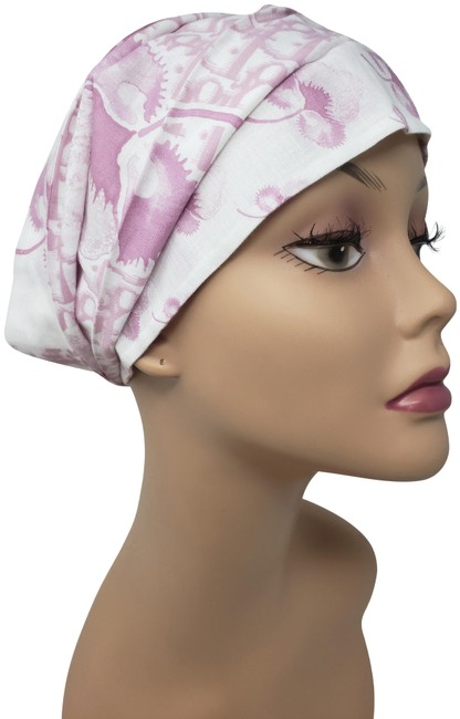 Item - White Pink issimo Floral Cotton Headband Hat