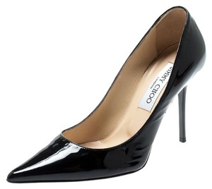Jimmy Choo Patent Leather Pointed Toe Black Pumps
