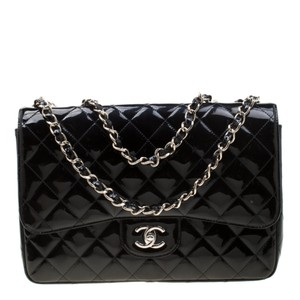 Chanel Quilted Patent Leather Classic Shoulder Bag