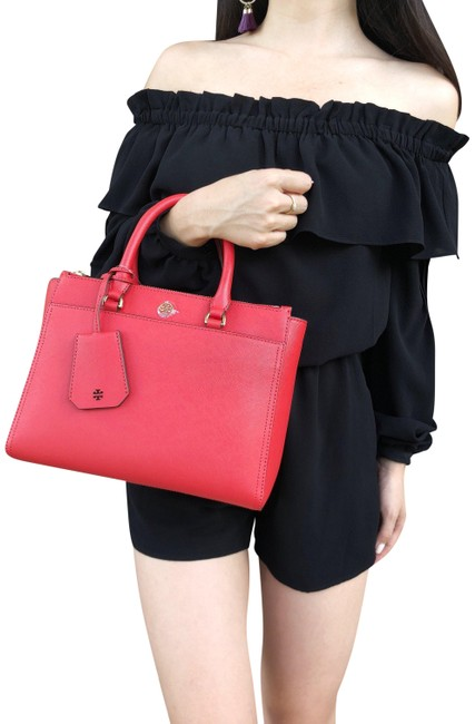 Item - Crossbody Robinson Small Double Zip Tote Poppy Orange Red Saffiano Leather Satchel