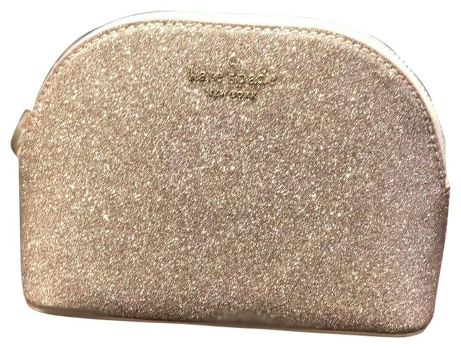 Item - Rose Gold Joeley Small Dome Glitter Makeup Wlru5759 Cosmetic Bag