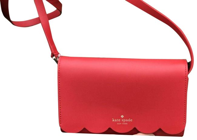 Item - Wlru5298 Magnolia Street Addison Purse/Crossbody Red Lambskin Leather Cross Body Bag
