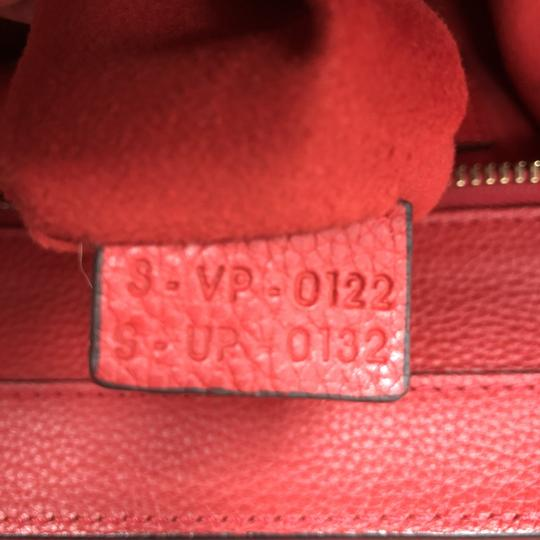 Céline Leather Satchel in Red Image 9