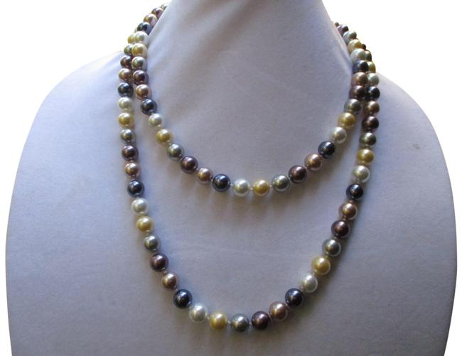 Item - Multicolor 10mm X Long Faux Pearl Necklace