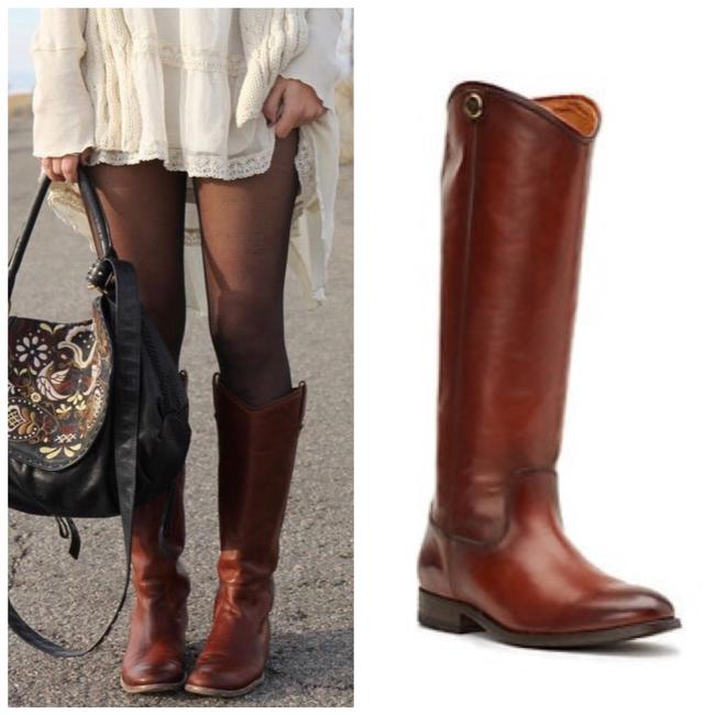 Item - Brown Melissa Button Extended Calf Boots/Booties Size US 8 Wide (C, D)