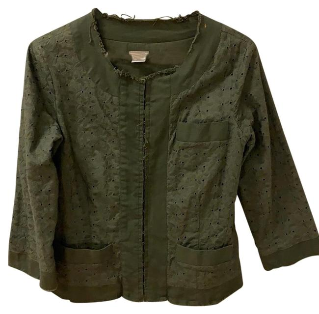 Item - Green Embroidered Jacket Size 10 (M)