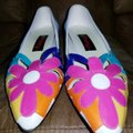 Proxy Pink, white, lavender, turquoise Flats
