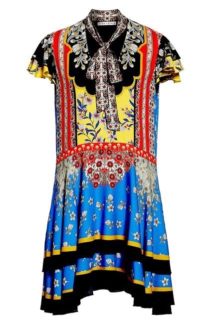 Item - Multi with Tag Moore Mix Print Minidress Mid-length Night Out Dress Size 8 (M)