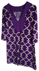 Tracy Negoshian short dress Purple on Tradesy