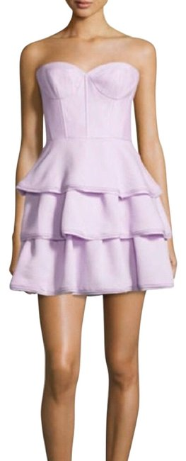 Item - Lilac Strapless Ruffles Short Cocktail Dress Size 8 (M)