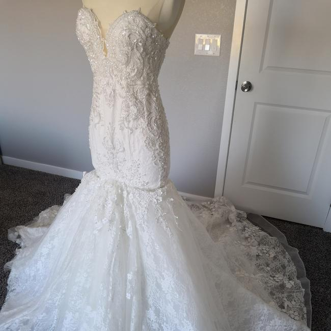 Custom Made Ivory - White Lace Inspired By #1040 Formal Wedding Dress Size Petite 2 (XS) Custom Made Ivory - White Lace Inspired By #1040 Formal Wedding Dress Size Petite 2 (XS) Image 1