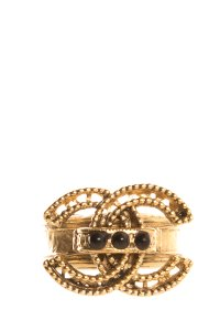 Chanel CHANEL Gold Tone Ring SZ 7 - item med img