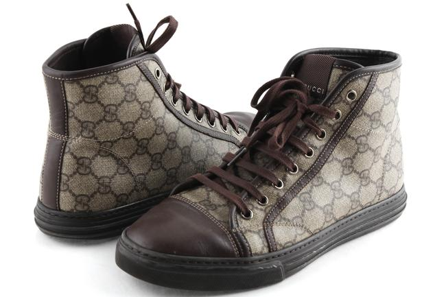 Item - Beige Gg Canvas California High Top Sneakers Shoes