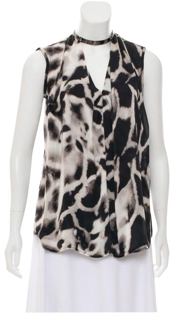 Item - Black and White Blouse Size 6 (S)