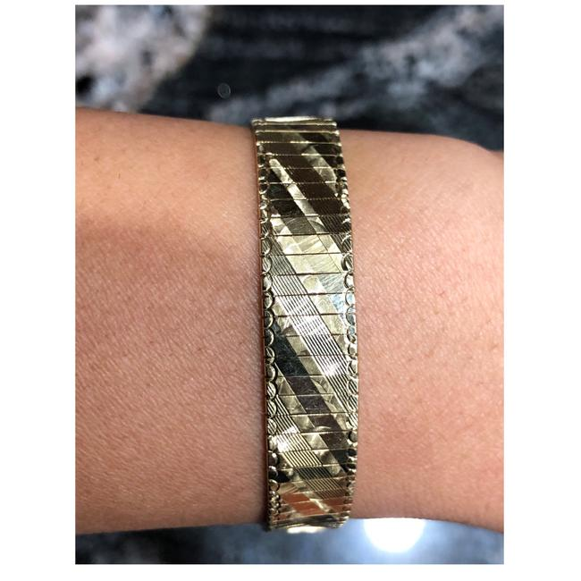 Unbranded Yellow Gold 14kt Pattern Watch Band Design Bracelet Unbranded Yellow Gold 14kt Pattern Watch Band Design Bracelet Image 1