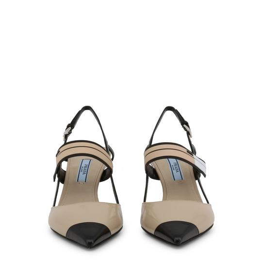 Prada Leather Slingback Sandal Heel Brown Pumps Image 1